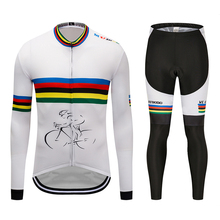 Mens 3D Graffiti Winter Thermal Cycling Jersey Long Sleeve Jerseys Cycling Bib Pants Set Bicycle Cycling Extreme sport Clothes стоимость