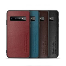 Luxury Original Real Cowhide TPU Case Back Phone Cover For Samsung Galaxy S10 S10Plus S10E Genuine Leather KS0328