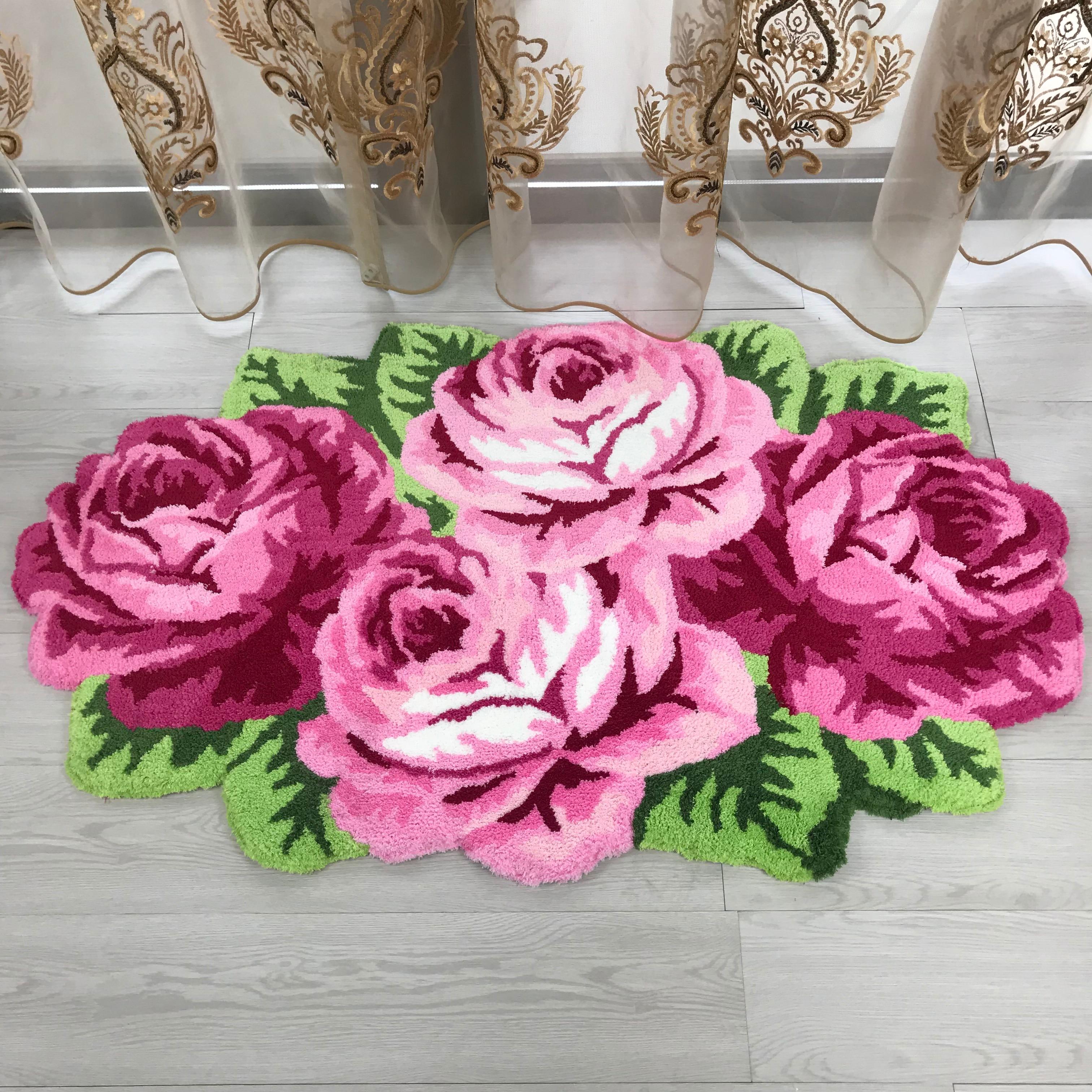 Bonne qualité rose rose tapis rose tapis violet tapis rose