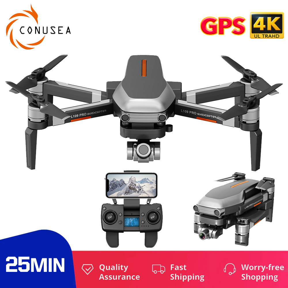 CONUSEA L109 PRO GPS Profissional Drone camera 4K drones with camera 4K hd Anti Shake Stable Gimbal 5G WIfi RC Quadcopter Dron|Camera Drones| - AliExpress