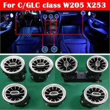 Bandes lumineuses d'atmosphère de buse de voiture, 3/12/64 couleurs, pour mercedes-benz classe C/GLC W205 X253 MB, lumière d'ambiance néon