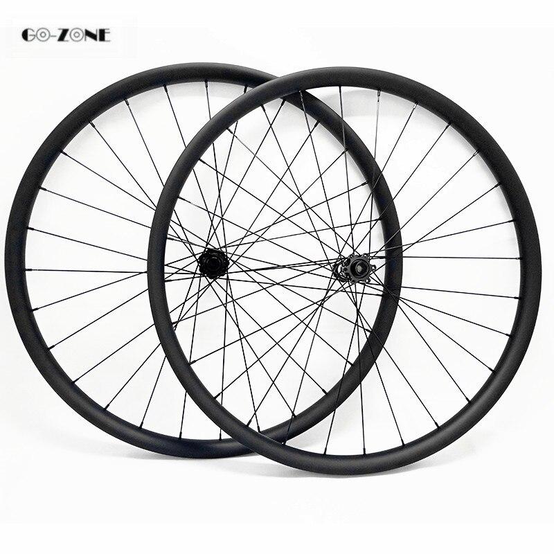 Mountain bike 29 inch carbon wheels asymmetric 30x35mm AM tubeless with DT350s boost /100x15mm 142x12mm thru axle mtb wheelset