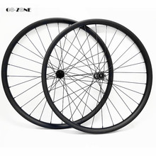29 inch mountain bike carbon wheels asymmetric am 30x35mm tubeless with DT350S boost 100x15 142x12 thru