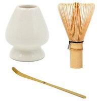 Japonês de bambu matcha batedor escova profissional chá verde em pó batedor chasen chá cerimônia bambu escova ferramenta moedor|Escovas p/ chá| |  -