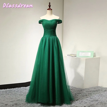 Темно зеленые тюлевые платья для выпускного вечера элегантные