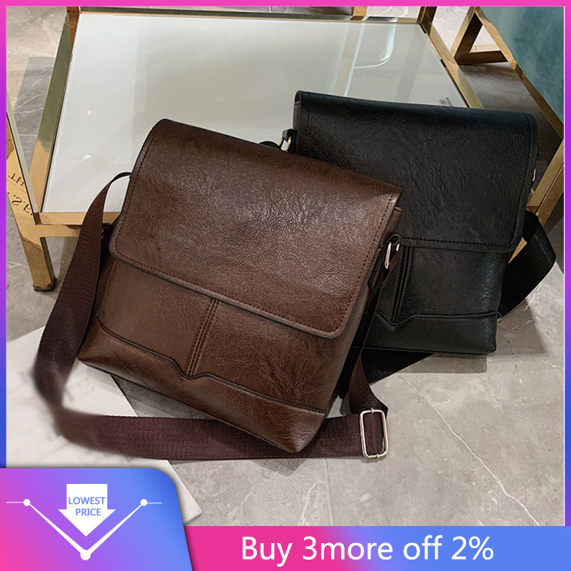 Office Shoulder Bags Tote Men's Business Diagonal Cross Bag Briefcase Solid Color Classic Shoulder Bag Handbag Laptop