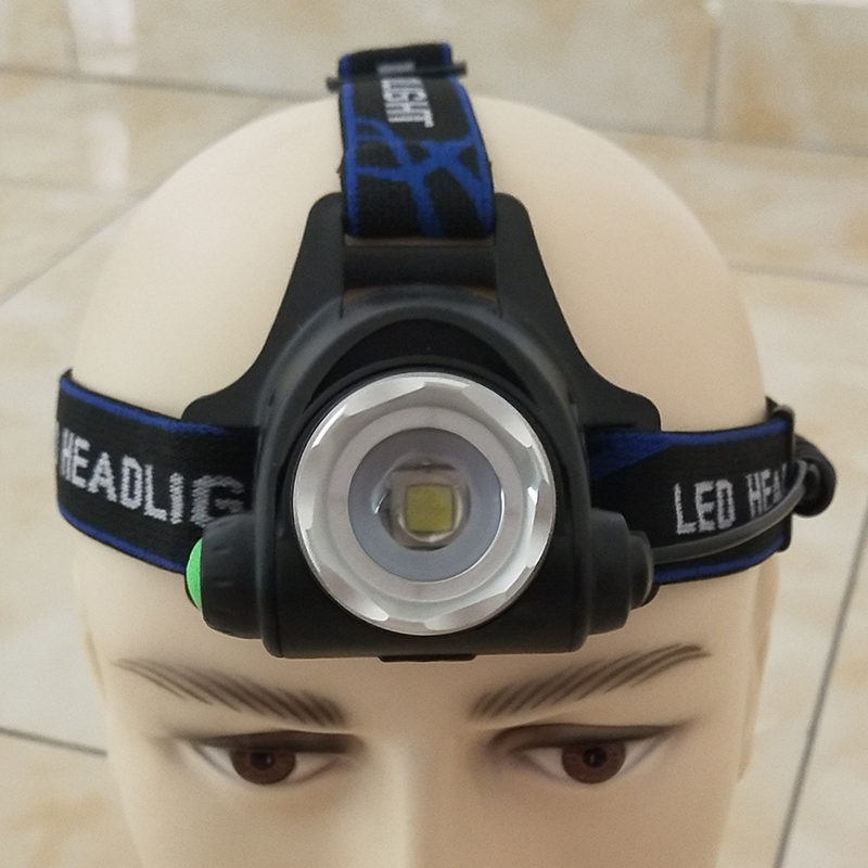 XM-L2 U3 Led Headlamp Zoom Adjustable Headlight Flashlight Torch Waterproof Head Lamp Light Bulbs Rechargeable 18650 Battery