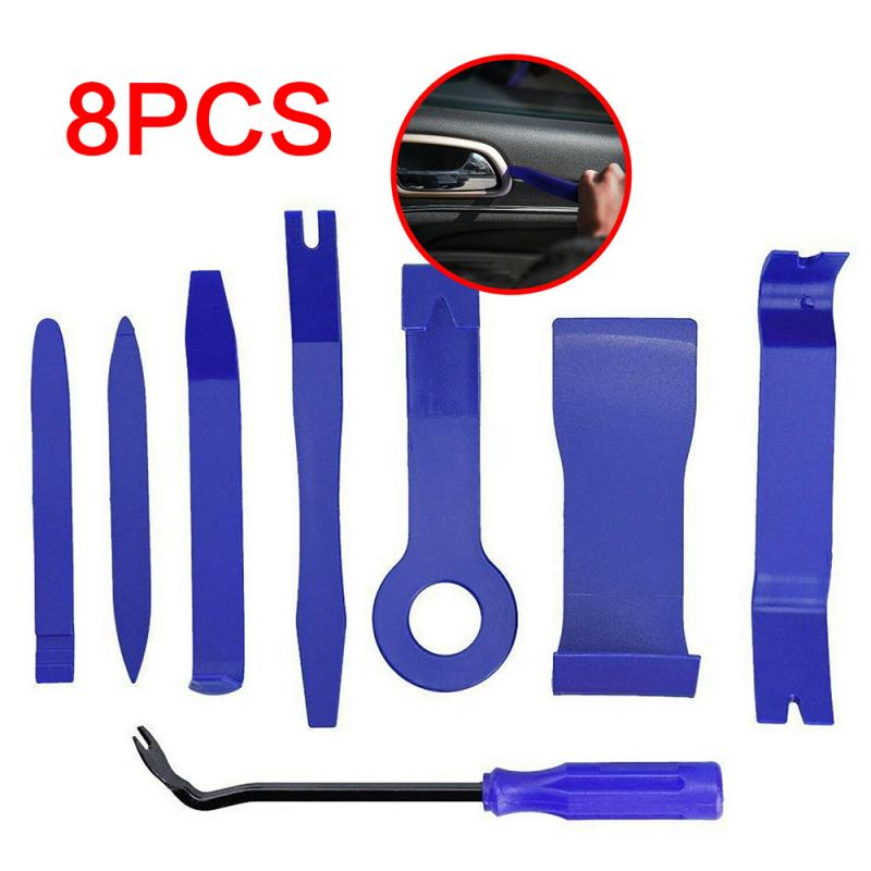 Special Disassembly Tool 8Pcs Car Trim Removal Tool Door Plastic Panel Molding Kit Set Pliers Tools Pry Car Disassembly Tool