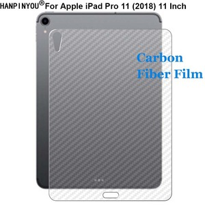 Для Apple iPad Pro 11 (2018) A2013 прочная 3D Защитная пленка для задней панели из углеродного волокна против отпечатков пальцев (не стекло)