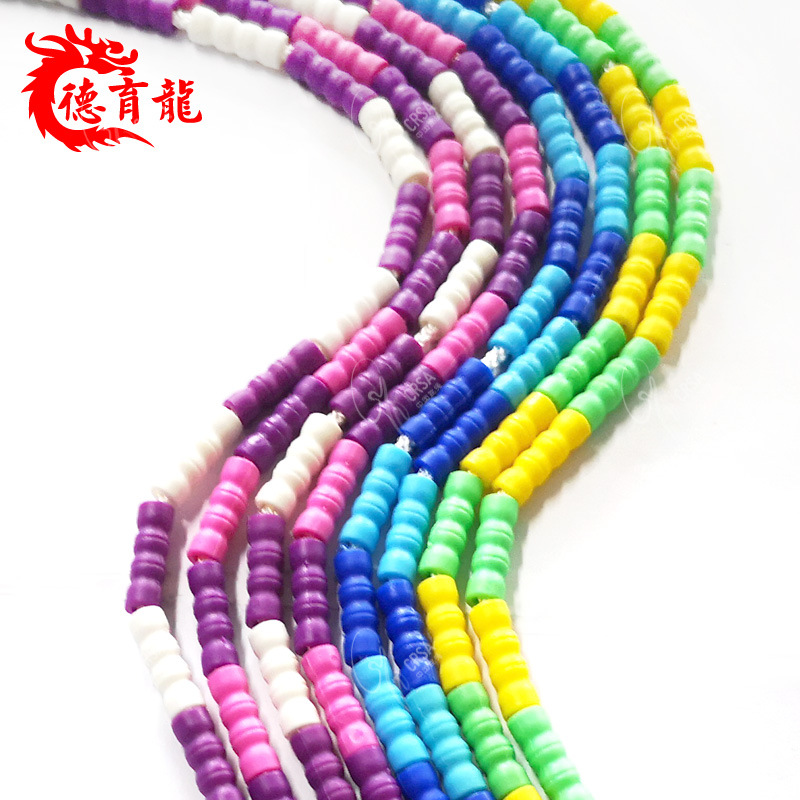 Small Bamboo Joint Beads Jump Rope Children Kindergarten Young STUDENT'S Beginners Adjustable Pattern Handle Lanyard