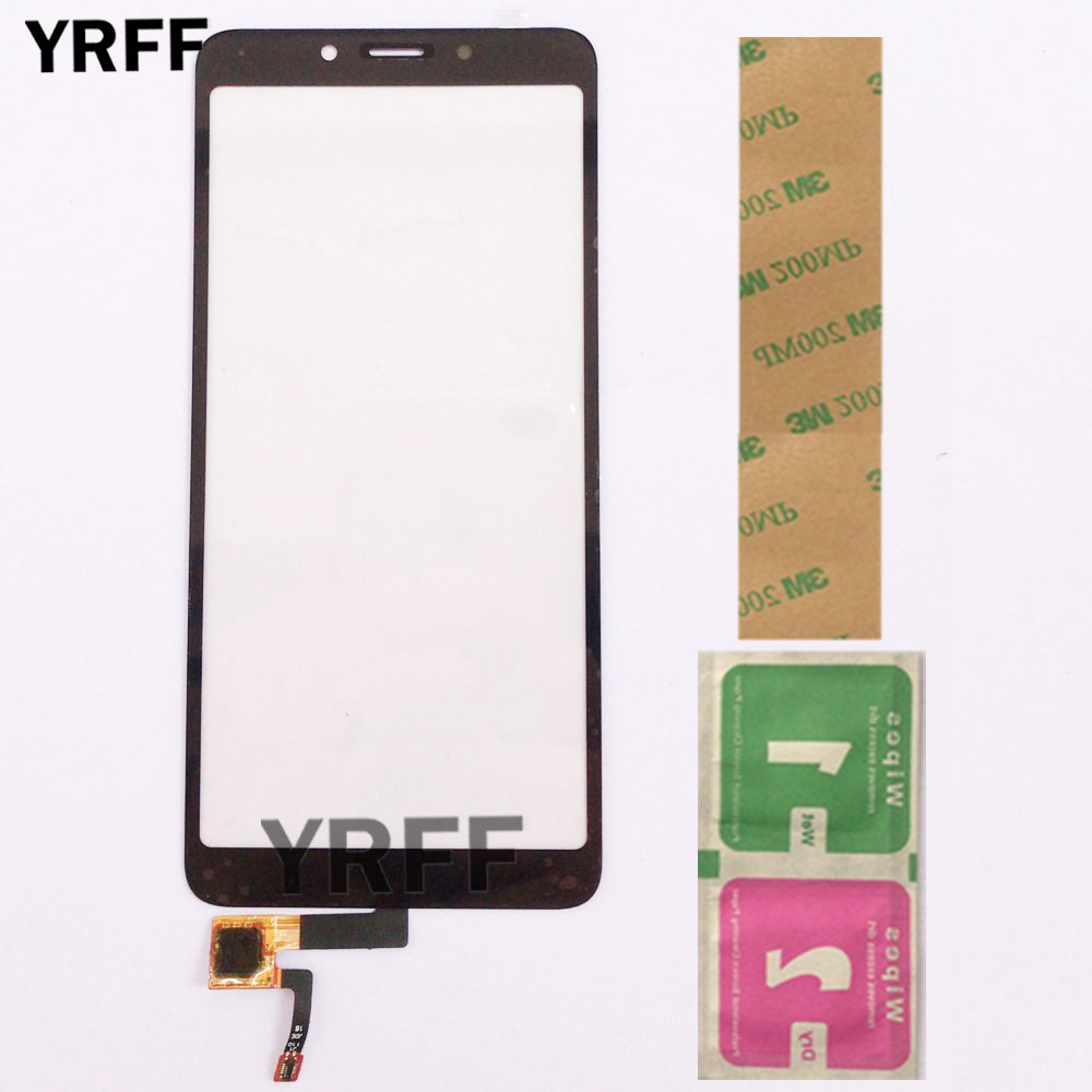 Touch Screen Panel For Xiaomi Redmi 6A Touch Screen 5.45'' Front Glass Digitizer Panel Sensor Lens 3M Glue Wipes