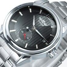 Mannen Automatische Horloge Mannen Horloges 2020 Luxe Ontwerp Kalender Datum Display Winnaar Horloge Mechanische Casual Business Metalen Band