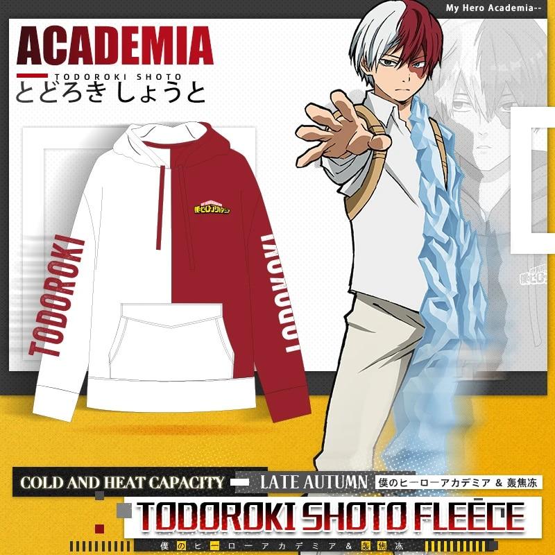 Anime My Hero Academia Todoroki Shoto Cosplay Pullover Hoodie Jacke AERJATJYUIUK