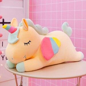 Jednorożec lalka gorąca sprzedaży rainbow pony pluszowe zabawki kreatywna poduszka lalka