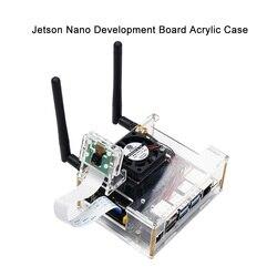NVIDIA Jetson Nano Developer kit Caixa de Acrílico Transparente para Jetson Nano com Ventilador de Refrigeração