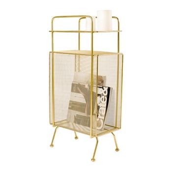 Nordic wrought iron floor rack bedroom bedside living room storage bookshelf multi-layer magazine rack