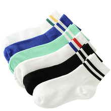 Women's socks are fun and cuteKLV Hip Hop Unisex Creative Harajuku stripe Cotton Skateboard Sock Comfortable Socks 9.10