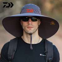 2021 Daiwa marca grande ala pesca sombrero verano Montañismo al aire libre sombrero anti-UV tapa impermeable gorra para el sol deportiva