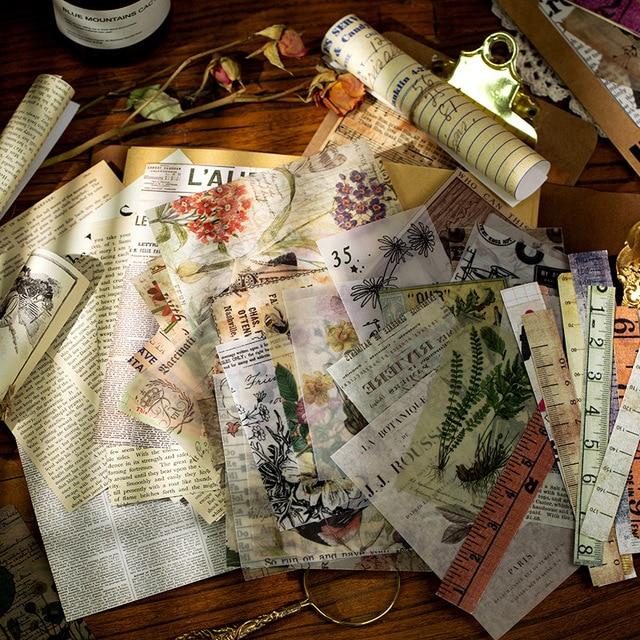 Rétro mémoire livre série papeterie autocollant Scrapbooking planificateur Journal Journal bricolage artisanat étiquette décorative