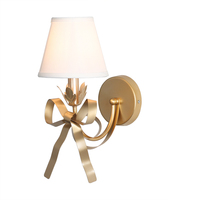 art deco design gold wall lights modern sconce white lampshade girls room lamp