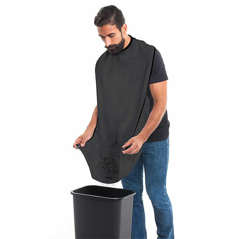 رجل الحمام المئزر الذكور الأسود اللحية المئزر الشعر حلاقة المئزر للرجل مقاوم للماء قماش الأزهار المنزلية تنظيف حامي 120x80 سنتيمتر