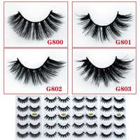 5 Pairs/Set 3D Eyelashes Mink Eyelashes For Woman Cheap False Eyelashes 2020