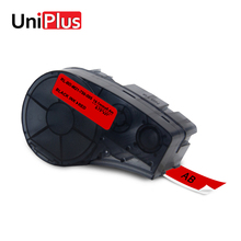 UniPlus for Brady BMP21 Plus Idpal Labpal Compatible Label Tapes M21-750-595-RD Black on Red Maker Printer Ribbon 19.1mm