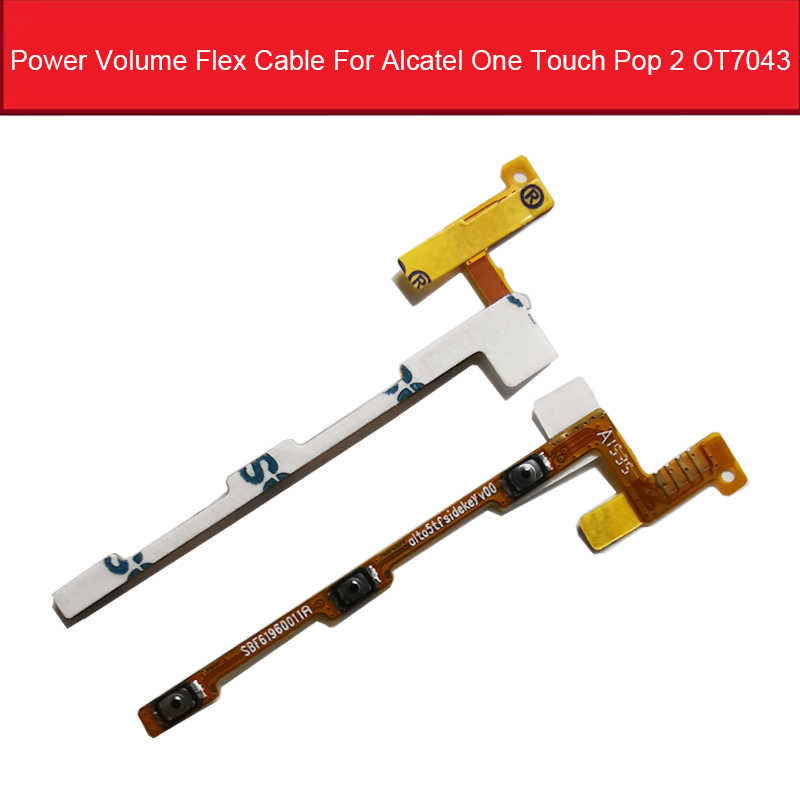 Power&Volume Flex Cable For <font><b>Alcatel</b></font> One Touch Pop 2 OT7043 7043 7043Y 7043A 7043E <font><b>7043K</b></font> Volume Up Down Button Flex Ribbon Cable image