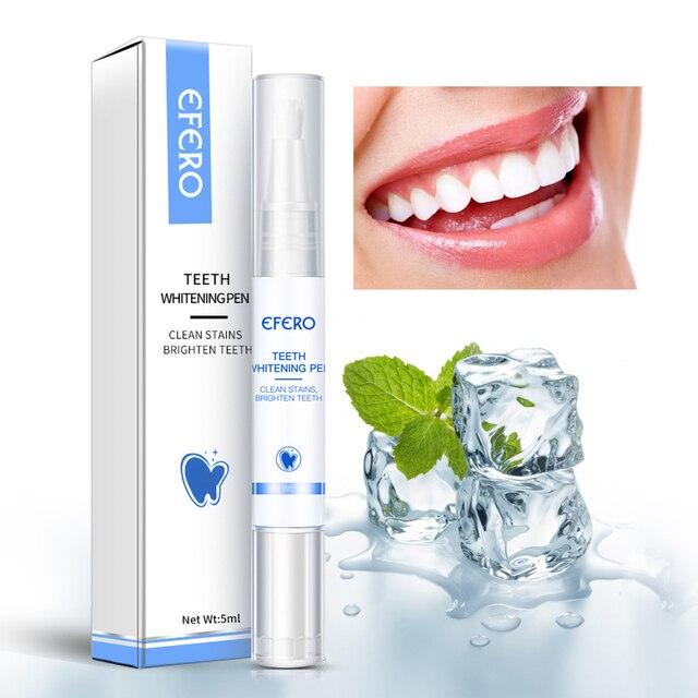 EFERO White Teeth Whitening Pen Tooth Gel Sbiancante Bleach Rimuovere Le Macchie Dental Strumenti di Igiene Orale Pulizia Dei Denti Placca Siero 2