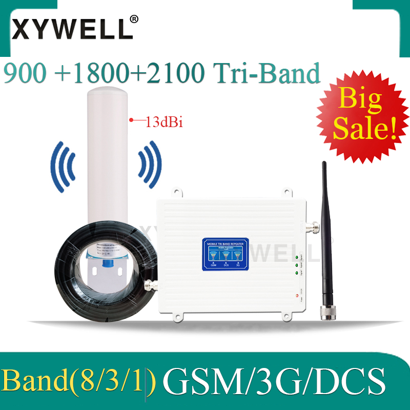 Cellular Signal Booster GSM Signal Repeater 900 1800 2100 2g 3g 4g DCS LTE WCDMA GSM Mobile Signal Cellular Booster Amplifier