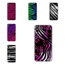 Soft Skin Cover For iPod Touch Apple iPhone 11 Pro 4 4S 5 5S SE 5C 6 6S 7 8 X XR XS Plus Max Pastel Teal Tiger neon Zebra Hybrid(China)