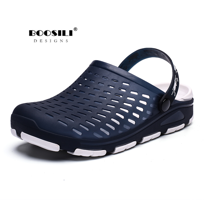 Mens Water Sandals Shoes Beach Slides Breathable Slippers Clogs Shoes Hollow