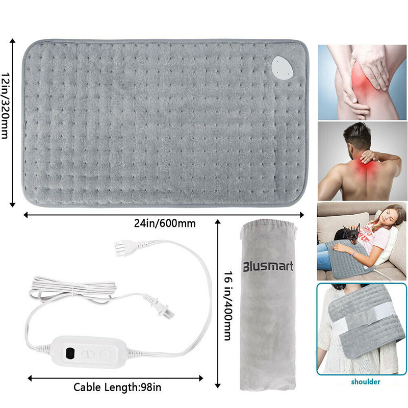 Person - Electric Heating Pad Blanket Heat Pads For Back Neck Pain Relief Aesthetic Thermal Blanket Calming Heat Massaging Heating Pad
