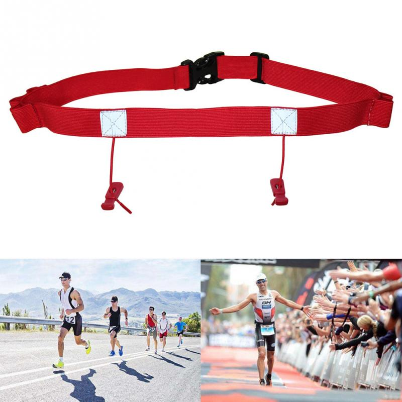 Unisex Outdoor Waist Pack Cycling Triathlon Running Race Holder Number Belt Sports Bib Reflective Cycling Reflective