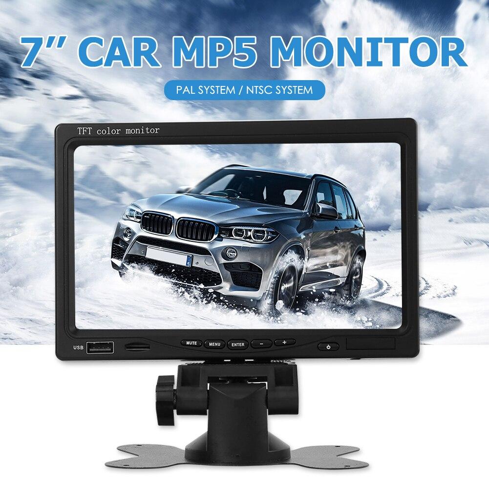 Автомобильный монитор MP5 плеер 7 дюймов TFT ЖК-дисплей Экран для заднего вида Камера DVD автомобиль аксессуары поставки Запчасти