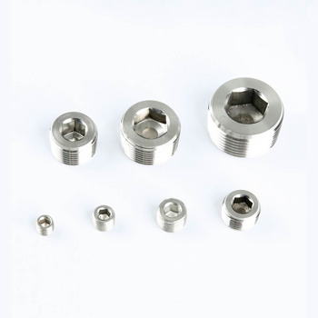 1/8 1/4 3/8 1/2 3/4 1 1-1/4 1-1/2 2 BSP NPT Male Countersunk End Plug 304 Stainless Steel Pipe Fitting Water Gas Oil image