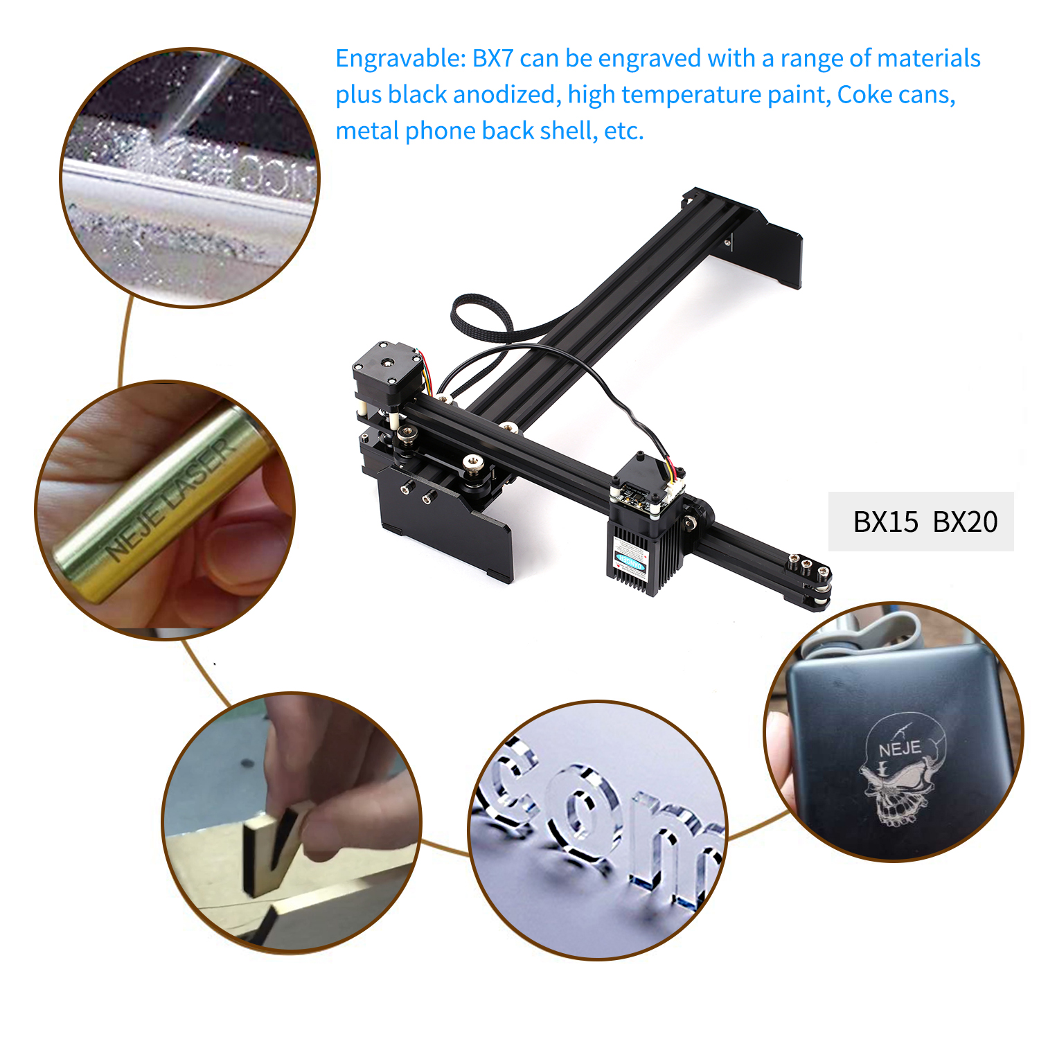 20W CNC Machine Made With Aluminum Alloy And Acrylic Material 3