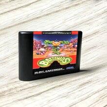 Battletoads   EUR Label Flashkit MD, tarjeta PCB dorada sin electrodos, forSega Genesis Megadrive, consola de videojuegos