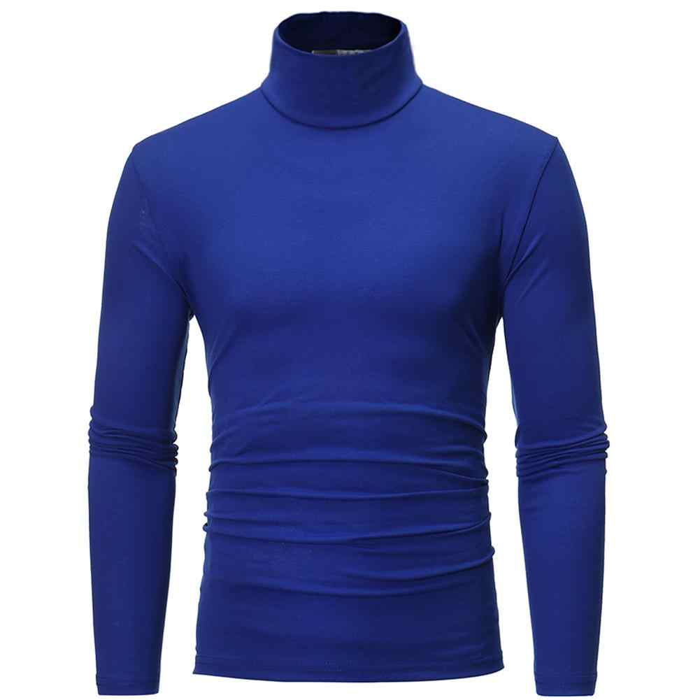 스웨터 남자 패션 솔리드 컬러 스웨터 터틀넥 슬림 피트 스웨터 Bottoming кофта мужская roupas masculina sueter hombre
