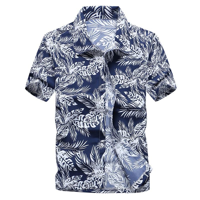 Fashion Mens Hawaiian Shirt Male Casual Colorful Printed Beach Aloha Shirts Short Sleeve Plus Size 5XL Camisa Hawaiana Hombre 2