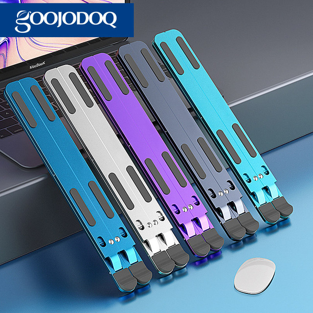 Laptop Stand, GOOJODOQ Adjustable Aluminum Soporte Notebook Soporte para Laptop Foldable soporte portatil Stand for MacBook Pro