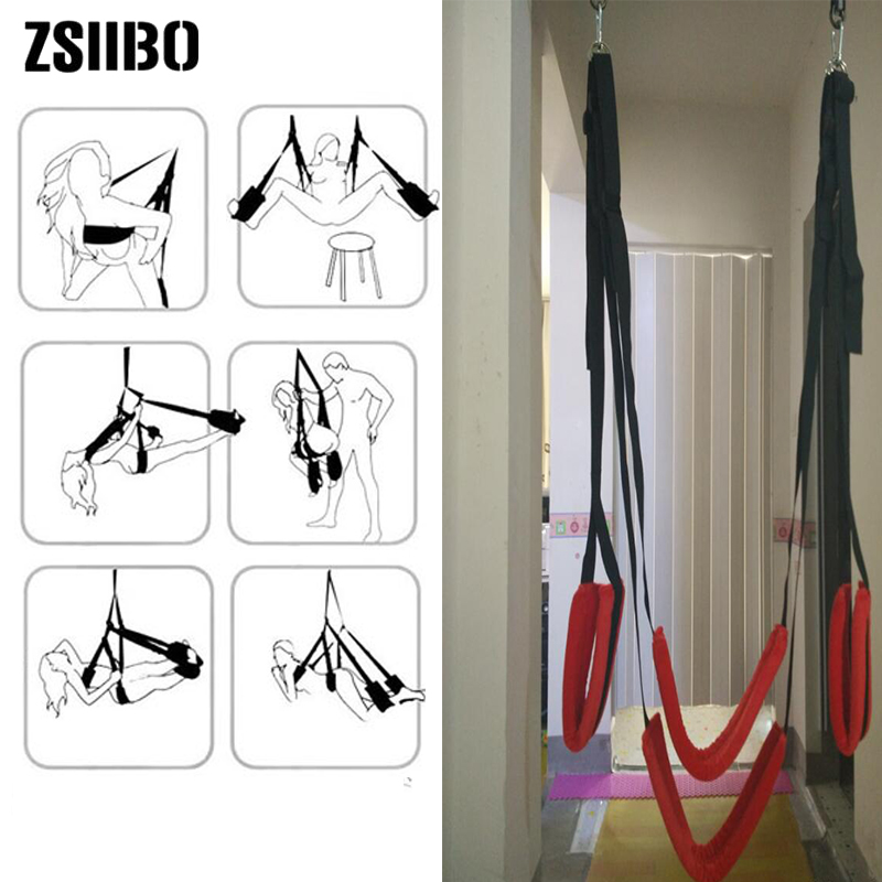 BDSM Sex Swing Door Hanging Love Swing SM Games Sex Toys For Woman Bdsm Bondage Couples Sex Accessories Products For Adults