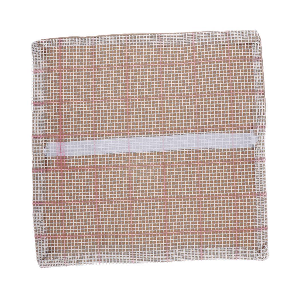 Housse de coussin à crochet vierge | Tapis à loquet de 43x43cm, bricolage pour enfants débutants