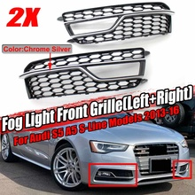 2x samochodów siatka o strukturze plastra miodu zderzak światła przeciwmgielne pokrywa na światła o strukturze plastra miodu Grill Grille klosz do Audi S5 A5 S-linie 2013-2016 8T0807681M 8T0807682M tanie tanio Audew CN (pochodzenie) HONEYCOMB Fog Light Lamp Cover high quality ABS Plastic none