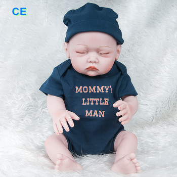 20inch 52cm Reborn Baby Doll Toy Cloth Body Stuffed Realistic Baby Doll Toddler Birthday Christmas Gifts my sleeping baby 3-7T