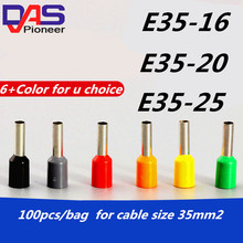 лучшая цена 2AWG 35mm2 bootlace Ferrules for E35-25   Tubular terminal connector