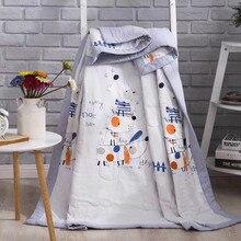 Детское одеяло, хлопок, постельные принадлежности, одеяло с рисунком, мягкое, для малышей, летнее, дышащее, удобное, BXX031