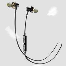цена на X660BL Bluetooth Headphones Earphone Dual Driver Wireless Headset with Mic Bass Stereo Earbuds for iPhone Xiaomi Samsung Huawei