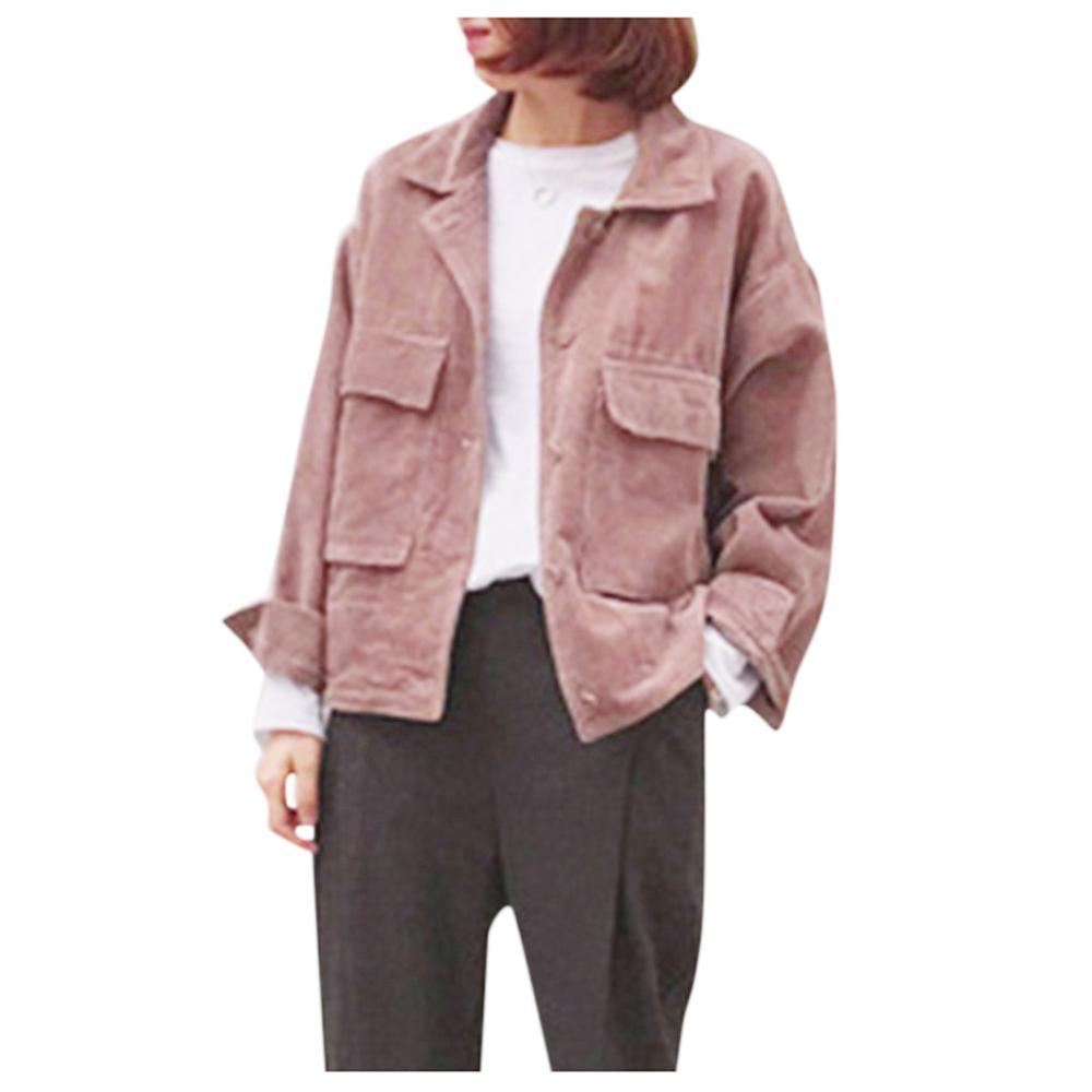 Autumn New Women Corduroy Jacket Top Shirt Coat Casual Vintage Loose Coat Girls Fashion Popular Streetwear 2020 Hot H1