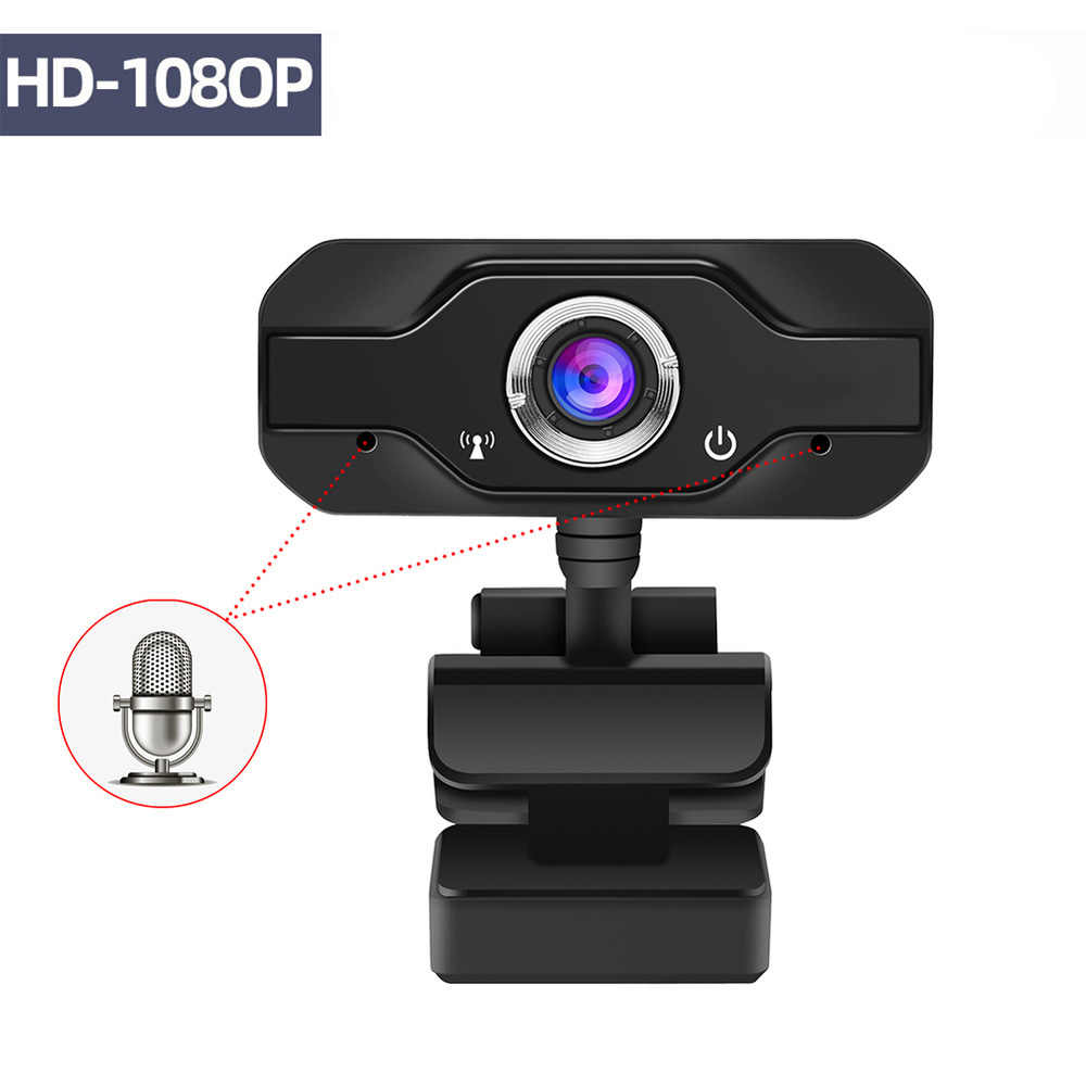 HD Webcam Built-In Dual MIC Smart 1080P Kamera Web USB Pro Streaming Kamera untuk Desktop Laptop PC permainan Cam untuk OS Windows10/8